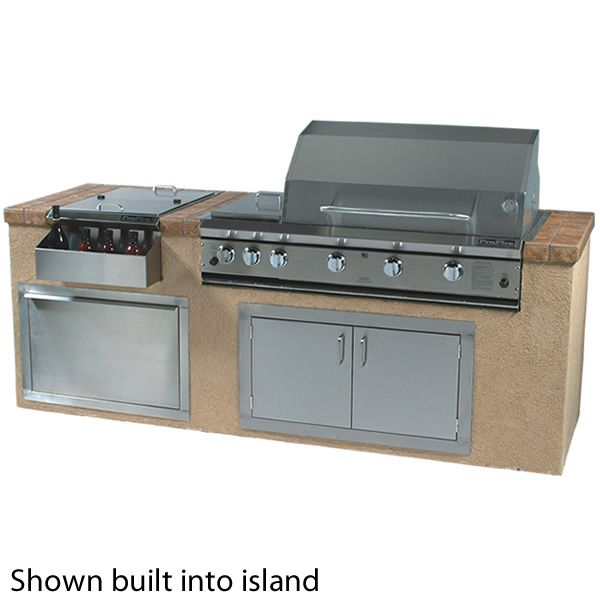 "ProFire Built-In Hybrid Double Burner Gas Grill - 48"" image number 1"