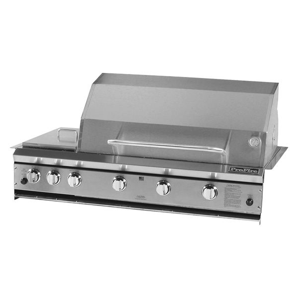 "ProFire Built-In Hybrid Double Burner Gas Grill - 48"" image number 0"