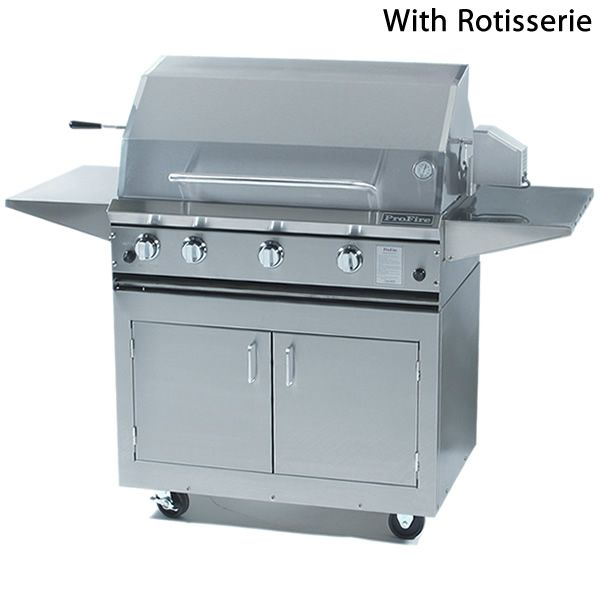 "ProFire Cart-Mount Gas Grill - 36"" image number 0"