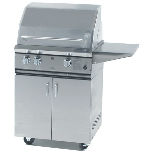 "ProFire Cart-Mount Hybrid Gas Grill - 27"" image number 0"