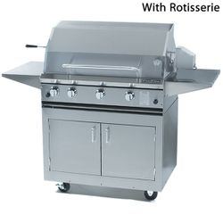 ProFire Cart-Mount Hybrid Gas Grill - 36""