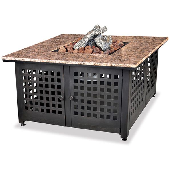 Propane Gas Outdoor Fire Pit with Granite Mantel image number 0