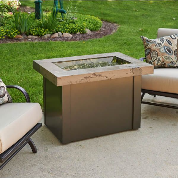 Providence Crystal Gas Fire Table - Marbleized Noche image number 1