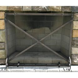 "Provincial Forged Iron Fireplace Screen 38""W x 32""H"