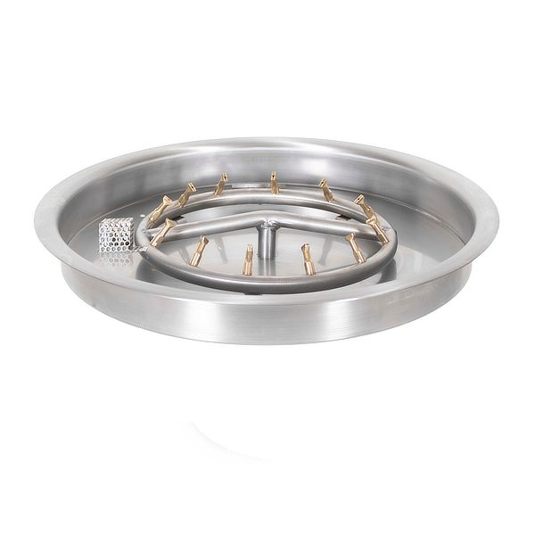 Round Stainless Steel Bullet Burner with Round Drop-In Pan image number 0