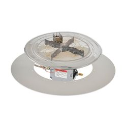 "Round Crystal Fire Plus Burner System & Plate Kit - 30"""