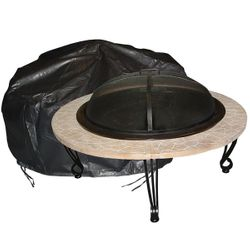 Round Fire Table Vinyl Cover-Low/Square
