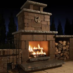 Necessories Compact Outdoor Fireplace