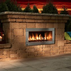 Necessories Contemporary Outdoor Gas Fireplace