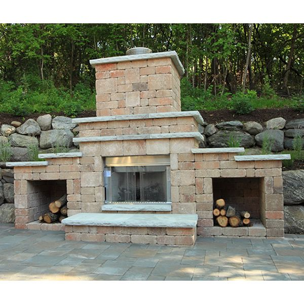 Rockwood Grand Outdoor Fireplace image number 2