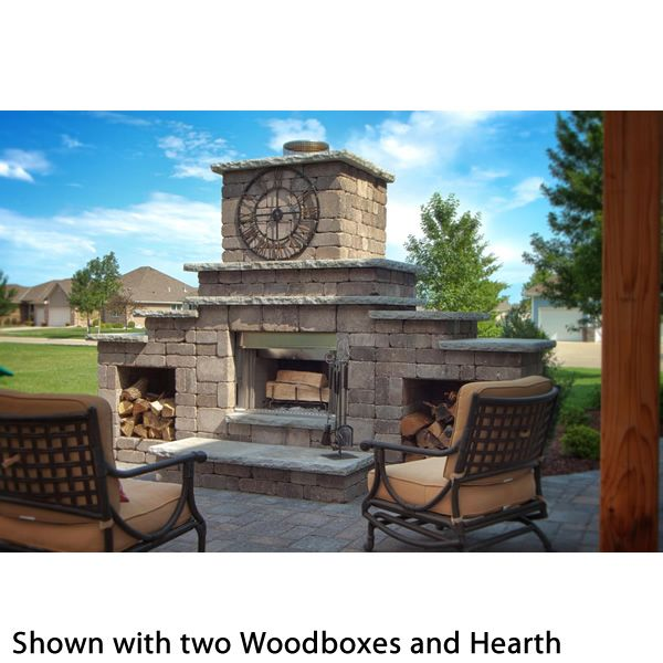 Rockwood Grand Outdoor Fireplace image number 5
