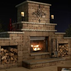 Necessories Grand Outdoor Fireplace