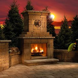 Necessories Victorian Outdoor Fireplace