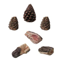 Accent Kit - 3 Wood Chips and 3 Pinecones - Small