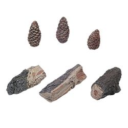 Accent Kit - 3 Wood Chunks and 3 Pinecones - Small