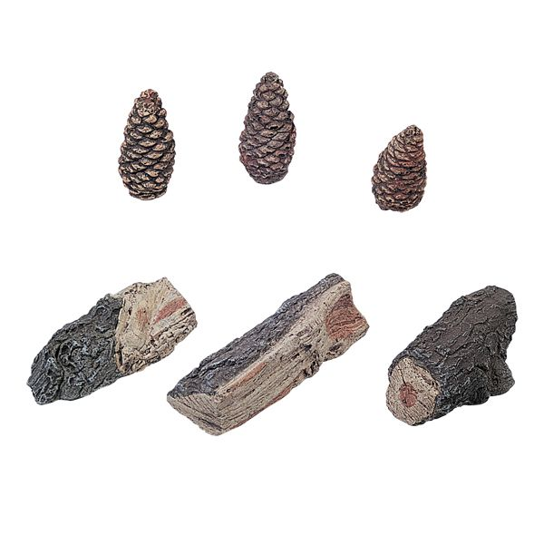 Rasmussen Accent Kit - 3 Wood Chunks and 3 Pinecones - Small image number 0