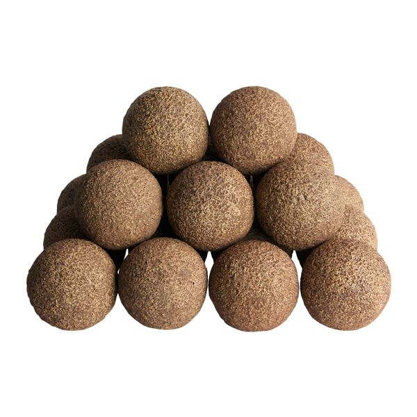 Rasmussen Alterna See-Through Ventless Rustic Fireplace Ball Set image number 0