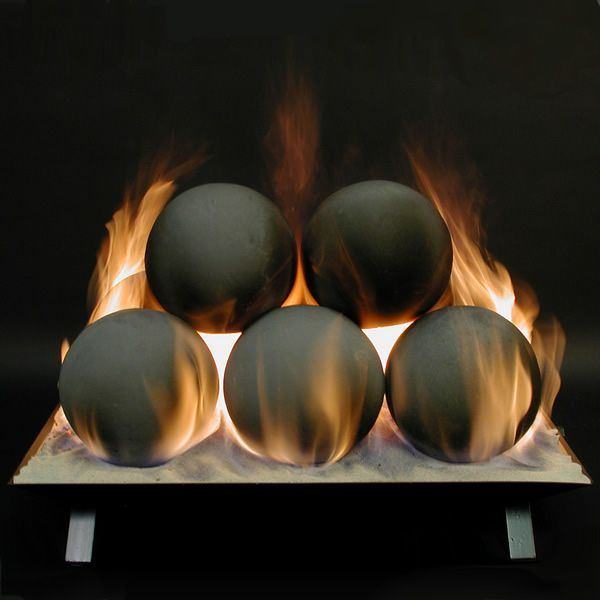 Rasmussen Alterna Vented Fireplace Ball Set image number 0
