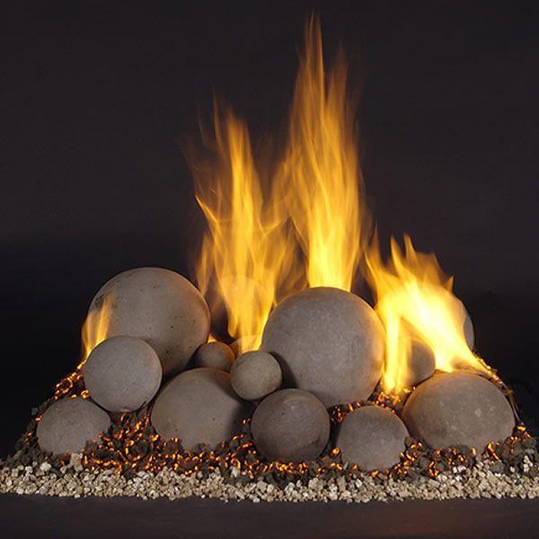 Rasmussen Alterna Vented Fireplace Mixed Ball Set image number 1