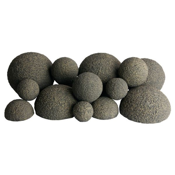 Rasmussen Alterna Vented Rustic Fireplace Mixed Ball Set image number 0