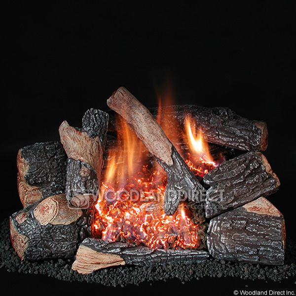 Rasmussen Chillbuster C8 Evening Embers Bark Ventless Gas Log Set image number 0