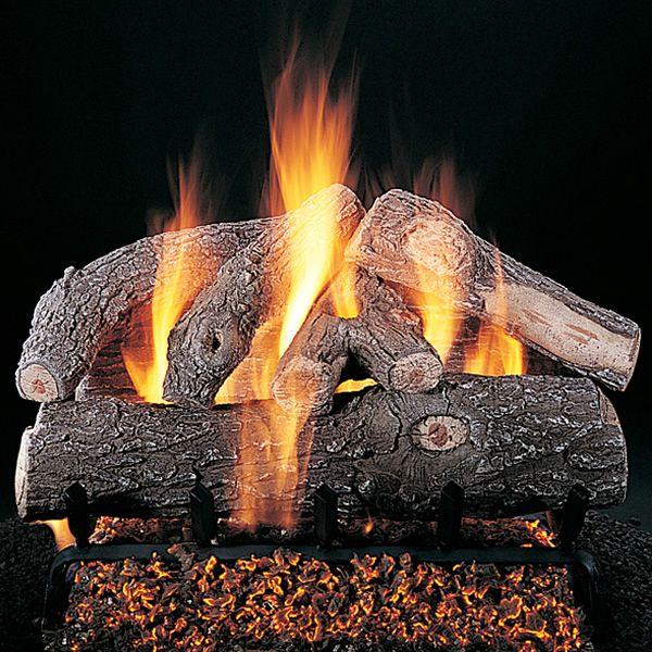 Rasmussen Frosted Oak See-Through Vented Gas Log Set - Valve Vanisher image number 0