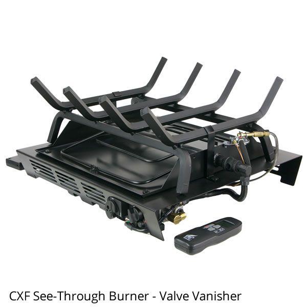 Rasmussen Prestige Oak See-Through Vented Gas Log Set - Valve Vanisher image number 1