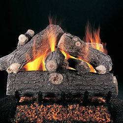 Rasmussen Prestige Oak See-Through Vented Gas Log Set - Valve Vanisher