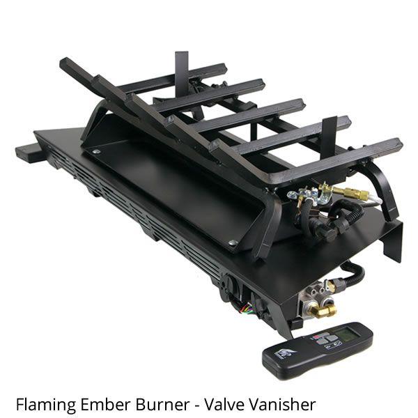 Rasmussen Prestige Oak Vented Gas Log Set - Valve Vanisher image number 1