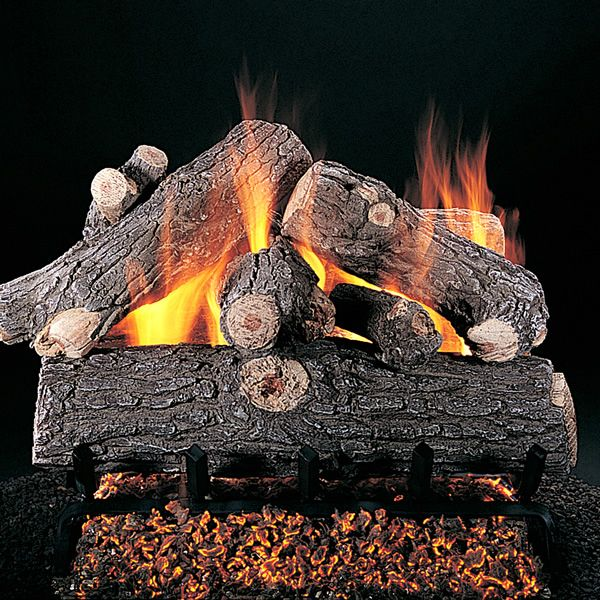 Rasmussen Prestige Oak Vented Gas Log Set image number 0