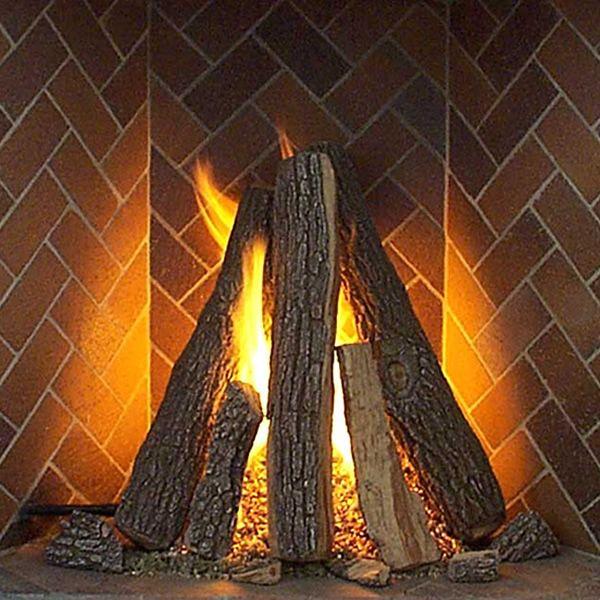 Rasmussen Rumford Tipi Vented Gas Log Set image number 0