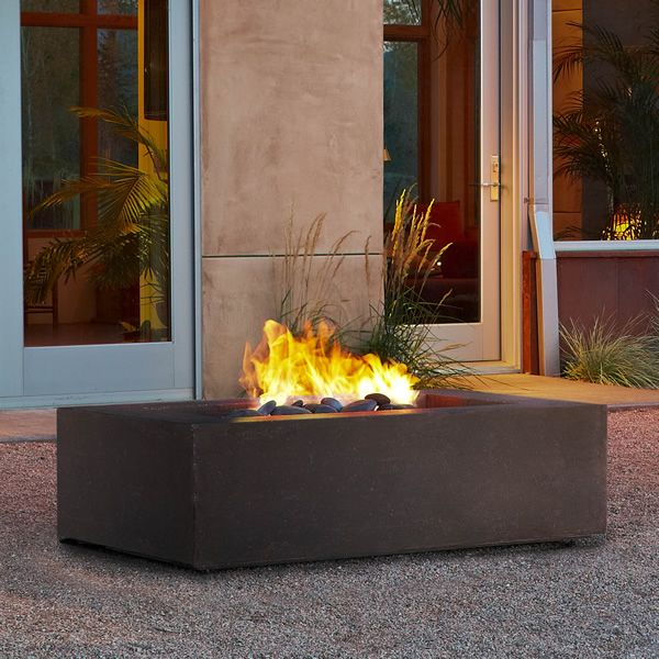 Real Flame Baltic Rectangle Fire Table - Kodiak Brown image number 0