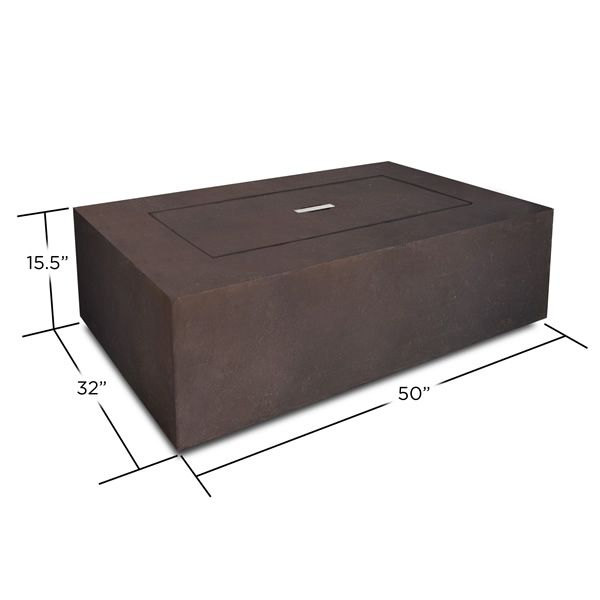 Real Flame Baltic Rectangle Fire Table - Kodiak Brown image number 6