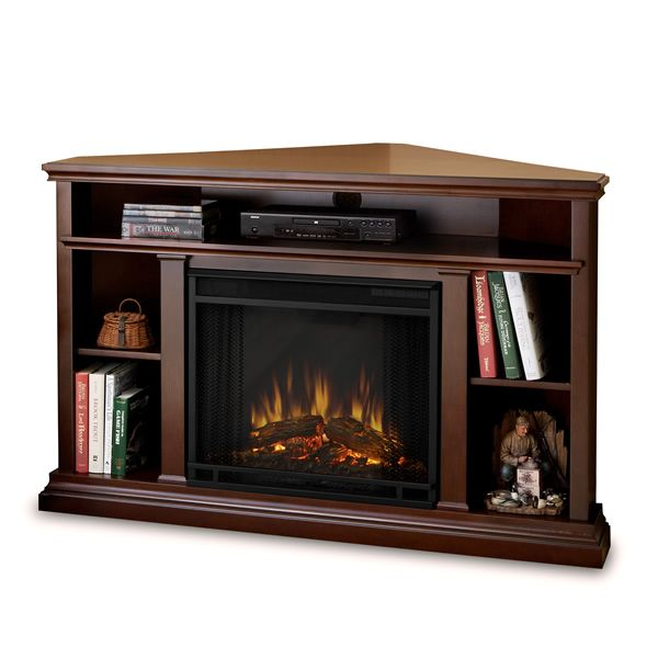 Real Flame Churchill Corner Electric Fireplace - Espresso image number 1