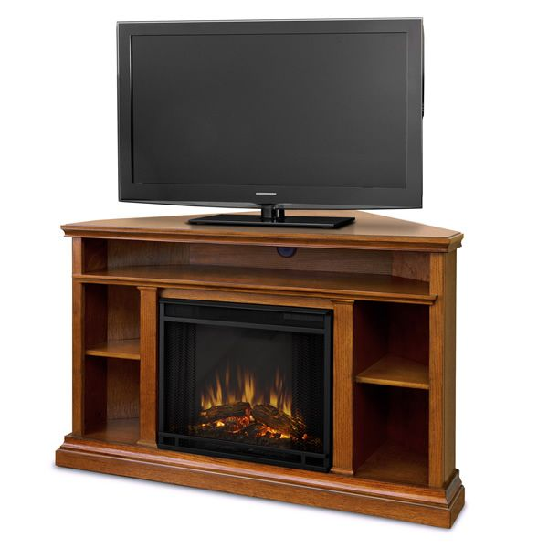 Real Flame Churchill Corner Electric Fireplace - Oak image number 2