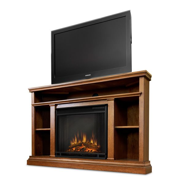 Real Flame Churchill Corner Electric Fireplace - Oak image number 4