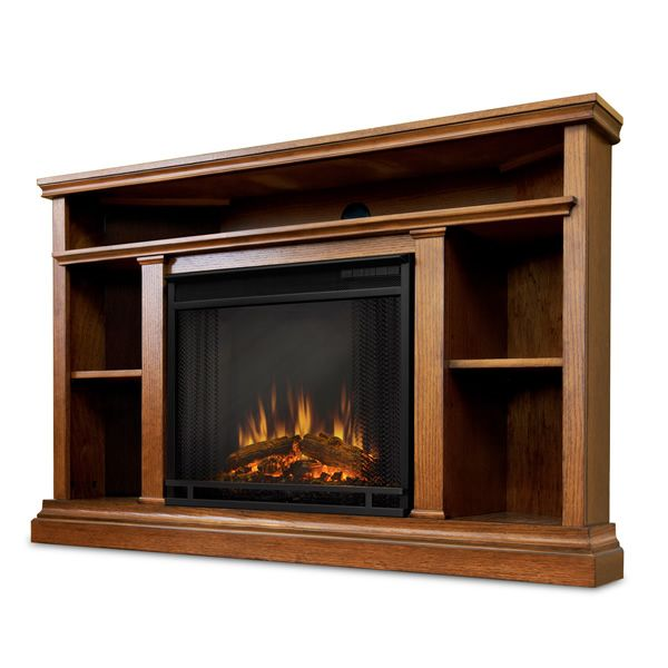 Real Flame Churchill Corner Electric Fireplace - Oak image number 5