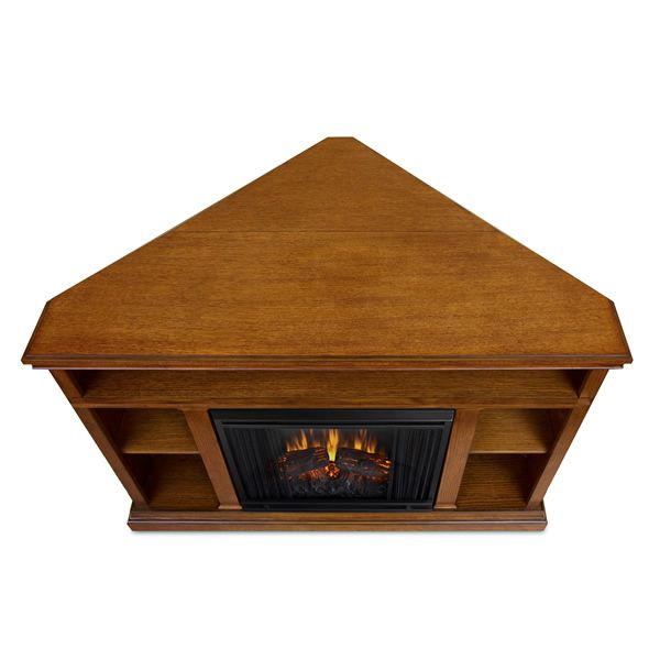 Real Flame Churchill Corner Electric Fireplace - Oak image number 6
