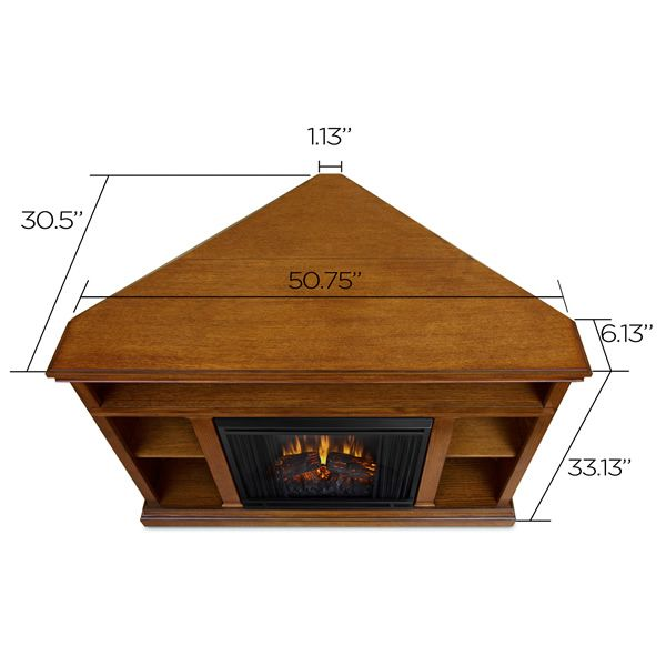 Real Flame Churchill Corner Electric Fireplace - Oak image number 7