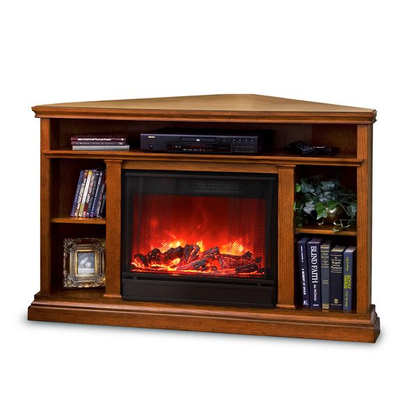 Real Flame Churchill Corner Electric Fireplace - Oak image number 8