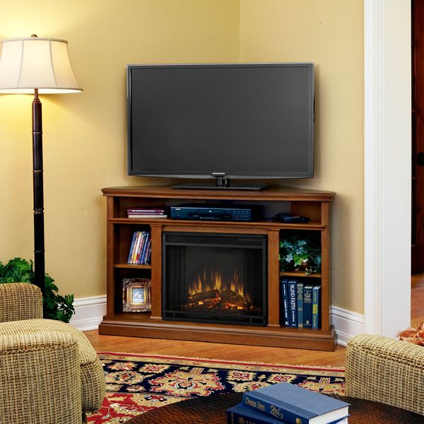 Real Flame Churchill Corner Electric Fireplace - Oak image number 0