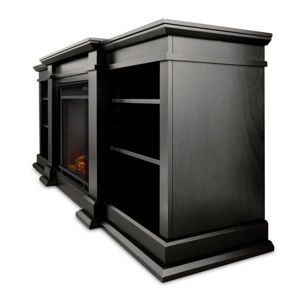 Real Flame Fresno Entertainment Electric Fireplace - Black image number 1