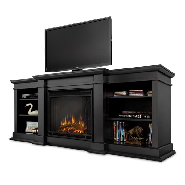 Real Flame Fresno Entertainment Electric Fireplace - Black image number 3
