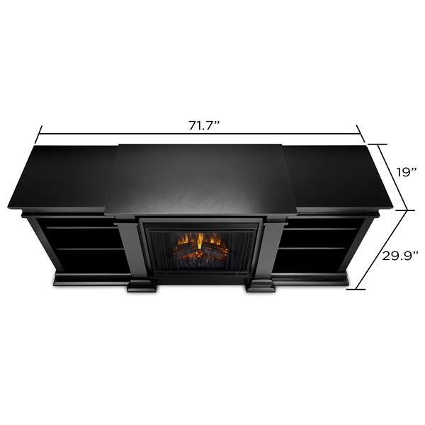 Real Flame Fresno Entertainment Electric Fireplace - Black image number 5