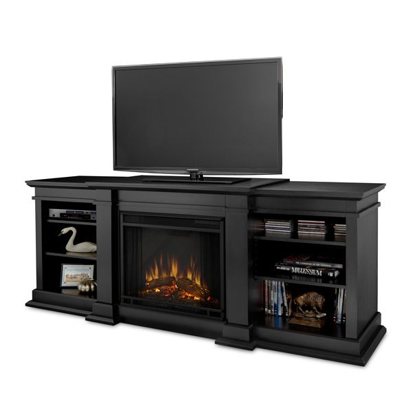 Real Flame Fresno Entertainment Electric Fireplace - Black image number 0