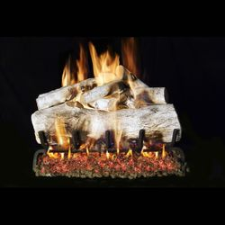 Real Fyre Mountain Birch Outdoor Vented Gas Log Set