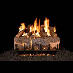 Real Fyre Mountain Crest Oak Vented Gas Log Set