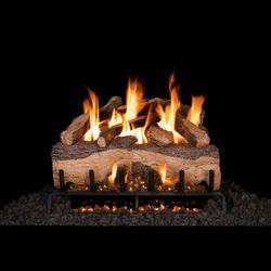 Real Fyre Mountain Crest Split Oak Vented Gas Log Set