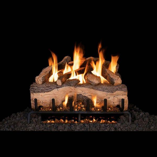 Real Fyre Mountain Crest Split Oak Vented Gas Log Set image number 0
