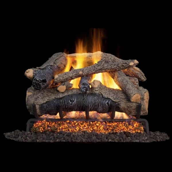Real Fyre Charred Colonial Oak Vented Gas Log Set image number 0